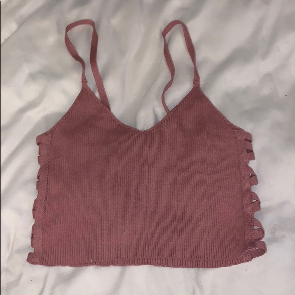 Forever 21 Tops - Cut-Out Crop Top